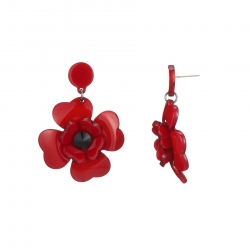 Kayly-Boucle d'oreille rouge